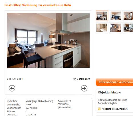 best offer wohnung zu. Black Bedroom Furniture Sets. Home Design Ideas
