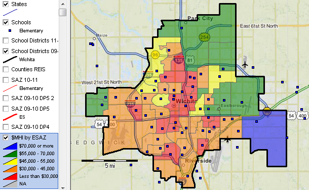 Zip Code Map Of Wichita Ks | World Map