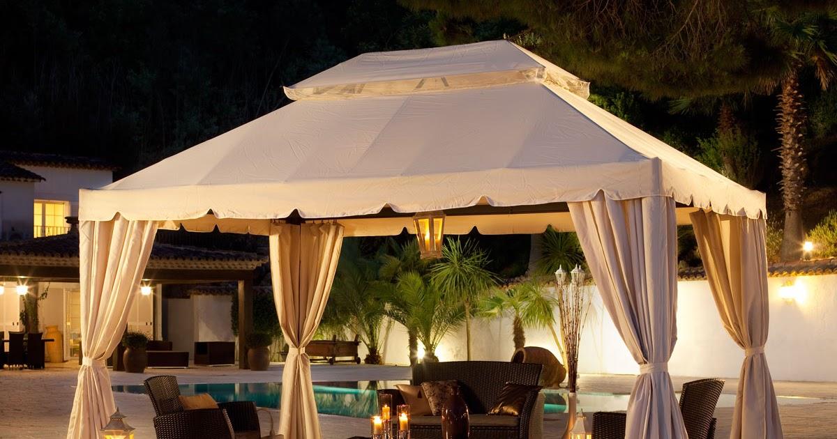 tonnelle de jardin avec toit amovible. Black Bedroom Furniture Sets. Home Design Ideas