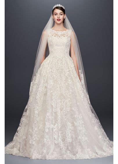 Beaded Lace Pleated Skirt Wedding Dress   David's Bridal
