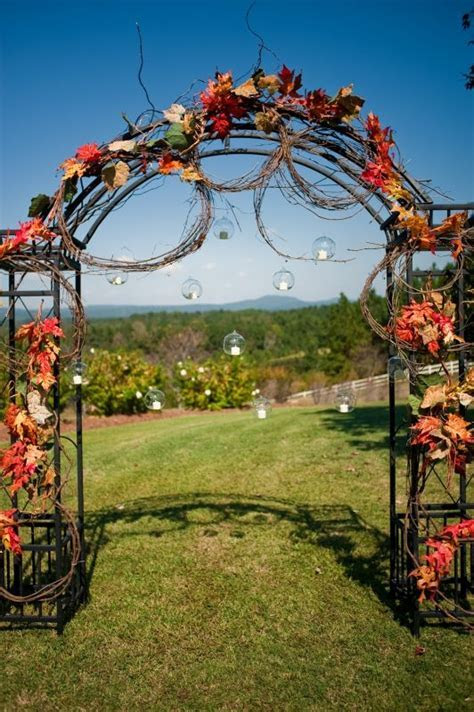 Ceremony Arch for fall autumn wedding   Weddingbee Photo