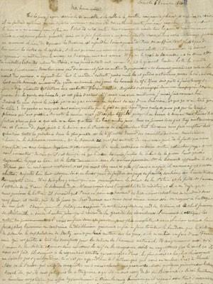 Carta enviada por um homem de Paris à sua mãe durante o cerco prussiano, em 1870, e encontrada nos Arquivos Nacionais da Austrália  (Foto: AFP Photo/HO/National Archives of Australia)