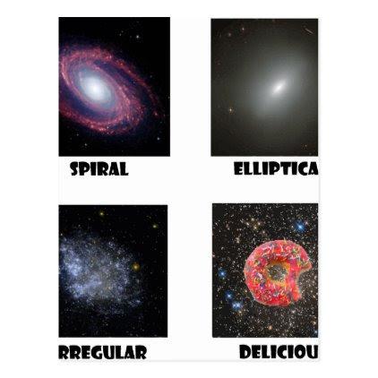 types of Galaxies3 Postcard