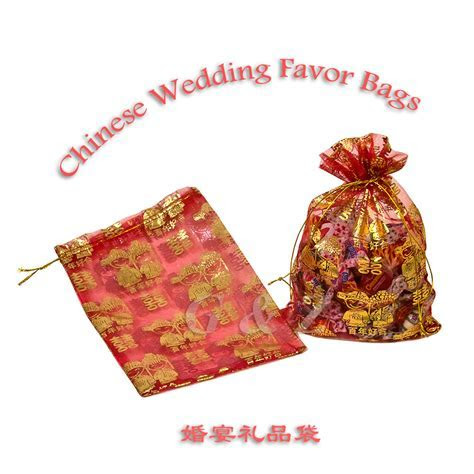 Chinese Wedding or Party Sheer Favor Bags Wholesale