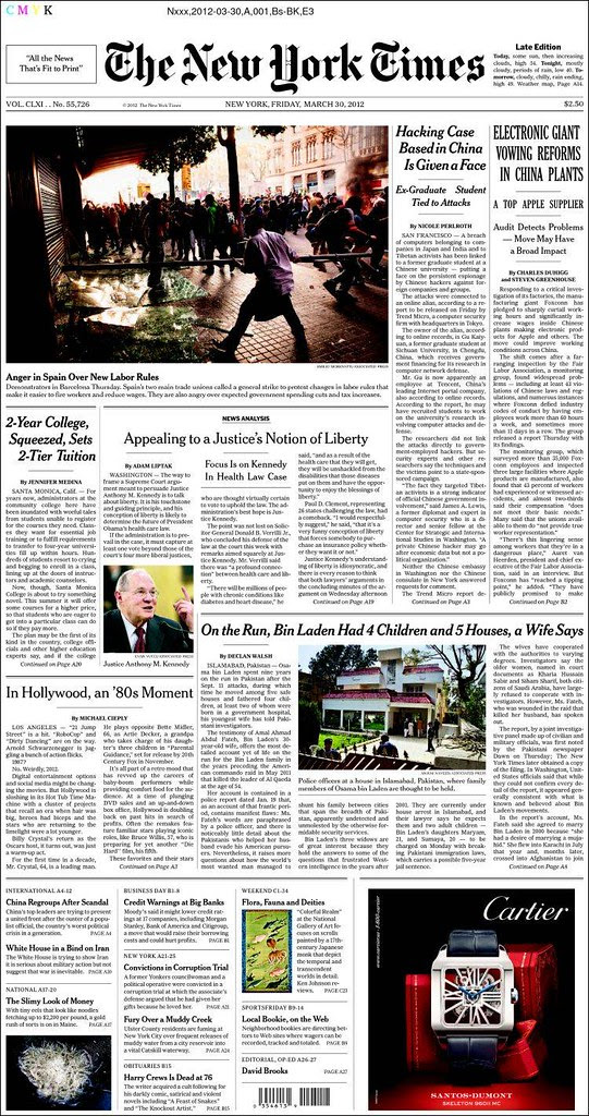 Portada 29M The New York Times