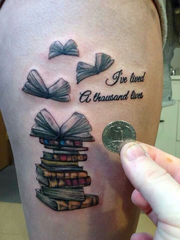"""I wanted an owl perched on books. But now I'm thinking I might try a different approach. With a few stacked books or one opened with """"I've lived a thousand lives"""" with bird silhouettes maybe."""
