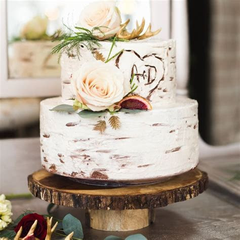 36 Rustic Wedding Cakes   Brides