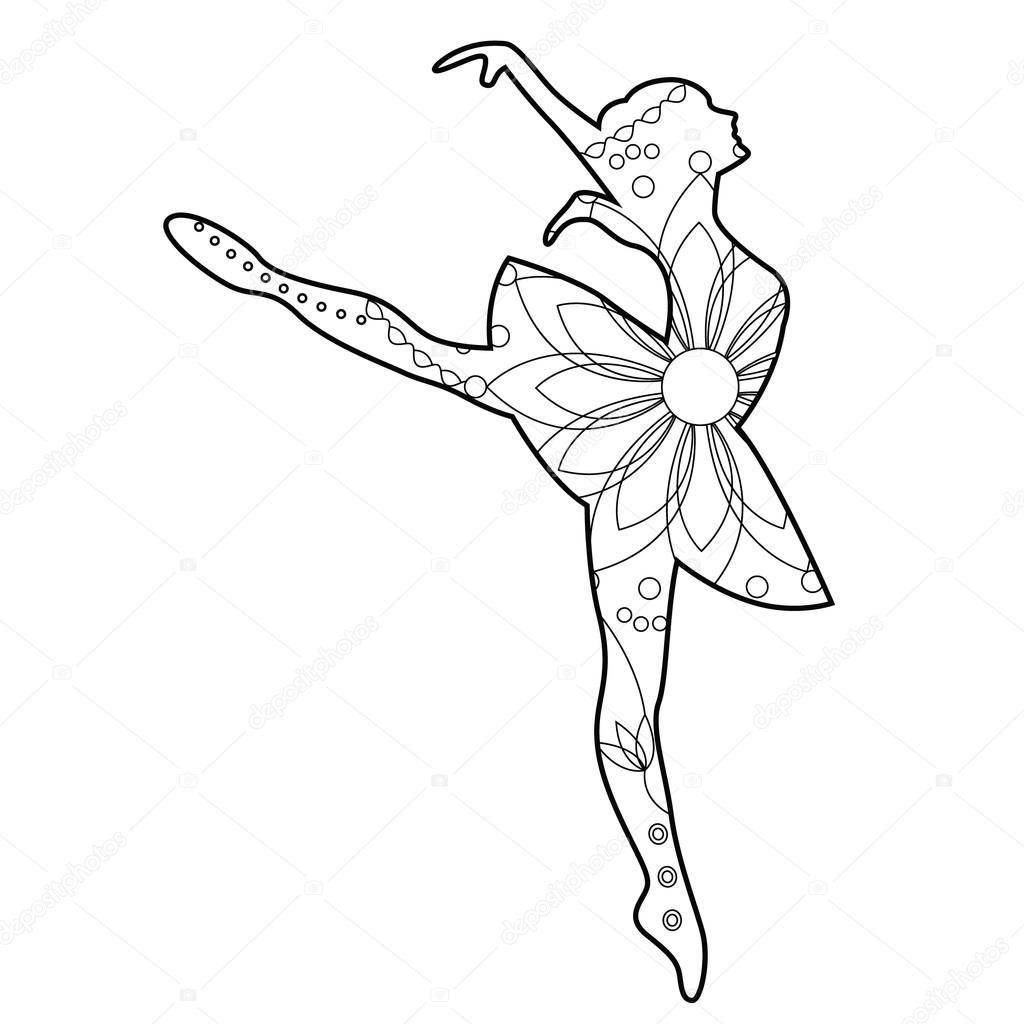 Fresco Desenho De Bailarina Para Colorir E Imprimir