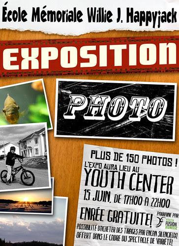 Expo photo des élèces de l'école mémoriale Willie J. Happyjack
