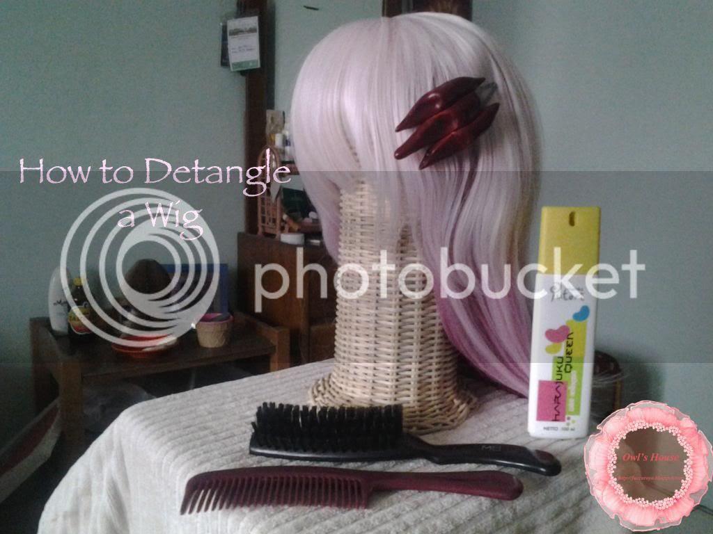 detangle a wig