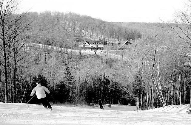 Skiing Down OK Ross