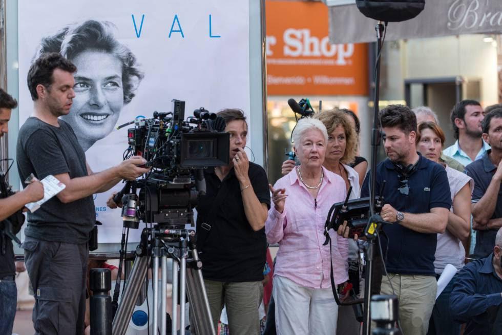 Eleanor Coppola, durante el rodaje de 'París puede esperar'.