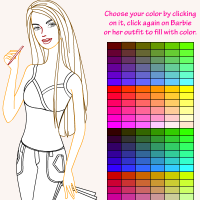 barbie coloring games  coloring pages to print
