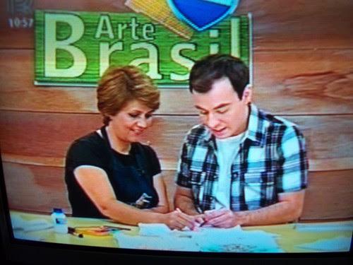 EU  NO ARTE BRASIL by Vera Arte em Giz