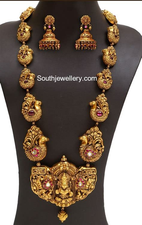Antique Gold Peacock Nakshi Haram   Accessories   Gold