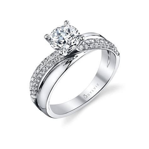 Naomie   Unique High Polish Spiral Engagement Ring   Sylvie