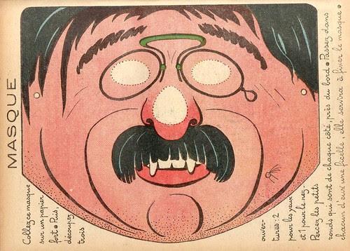 masque lorgnon