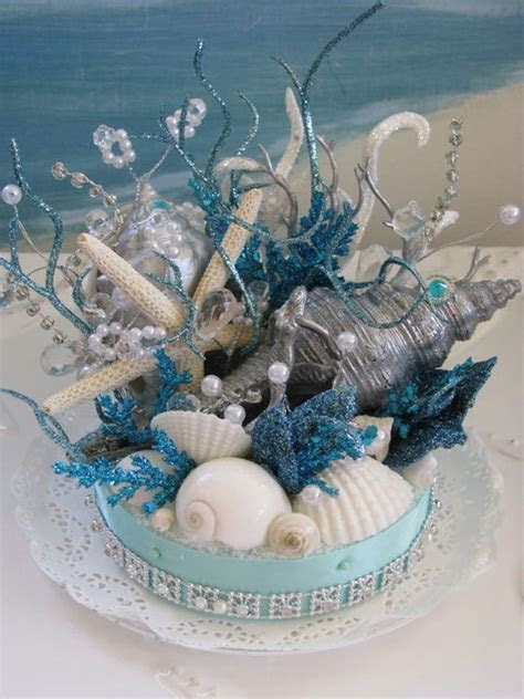 Coral Reef Seashell Cake Topper Starfish Wedding Cake