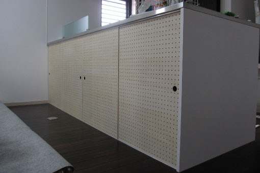 T邸キッチン建具2