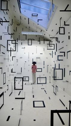 esther stocker - art installation- Websites For Artists www.Artistwebsitepro.com