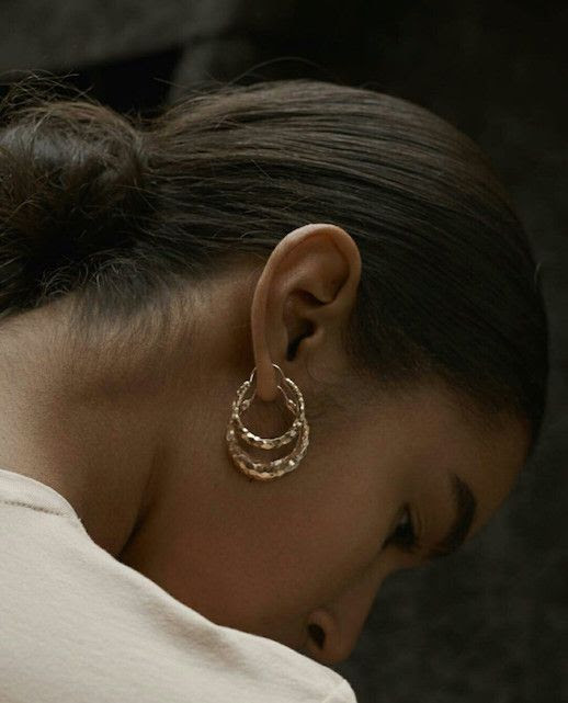 Le Fashion Blog The Best Gold Earrings To Buy Now Via @fredriknathorst