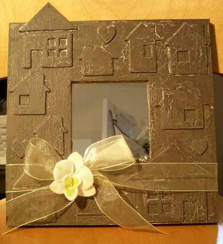 Crackle House Frame featuring Tombow Adhesives