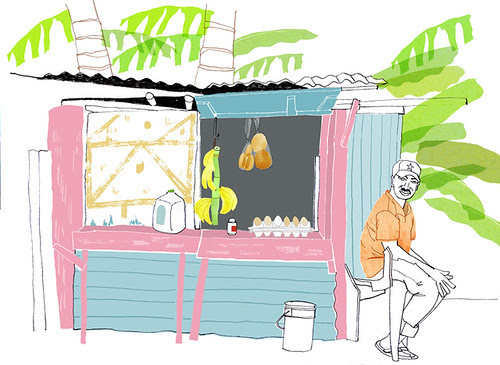 banana/egg seller, Las Terrenas