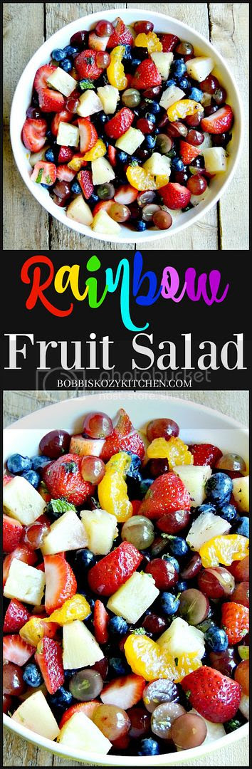 Celebrate the flavors of summer with this fruit salad. Eating the rainbow never tasted better. From www.bobbiskozykitchen.com