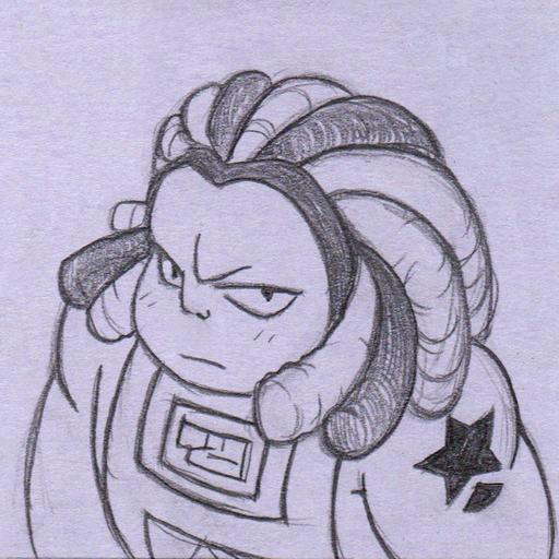 Draw Pearl admiring Jasper's muscles pls ;;