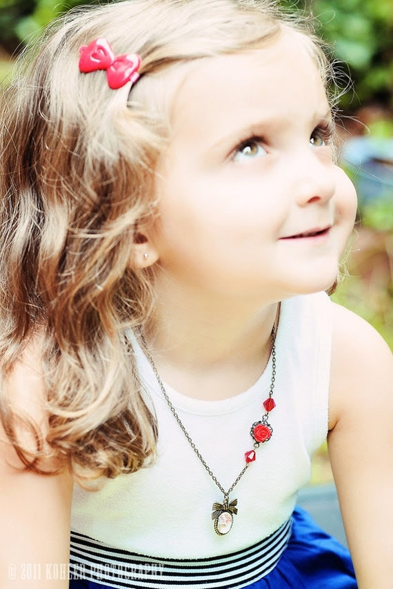 Custom Child Necklace Vintage Inspired