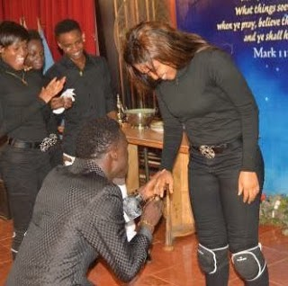 Comedian Akpororo Proposes To Girlfriend During Church Service [See Photos]