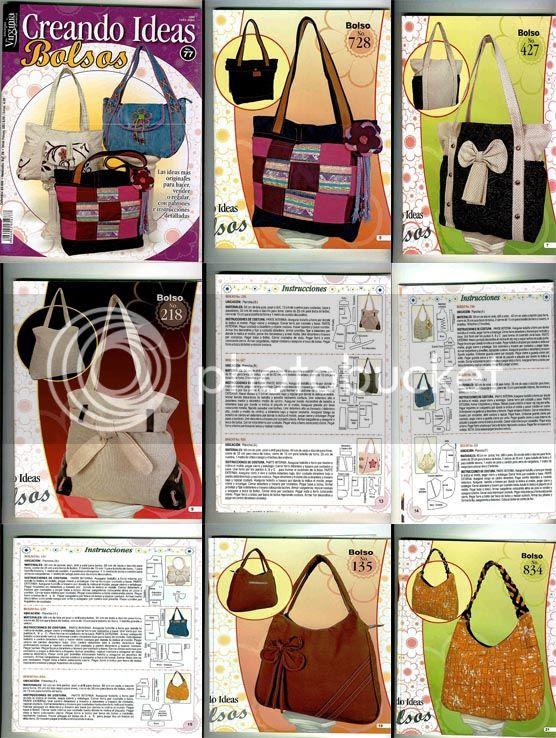revista manualidades bolsos ideas diseños moldes patrones