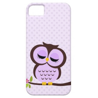 Cute Purple Owl iPhone 5 Cover