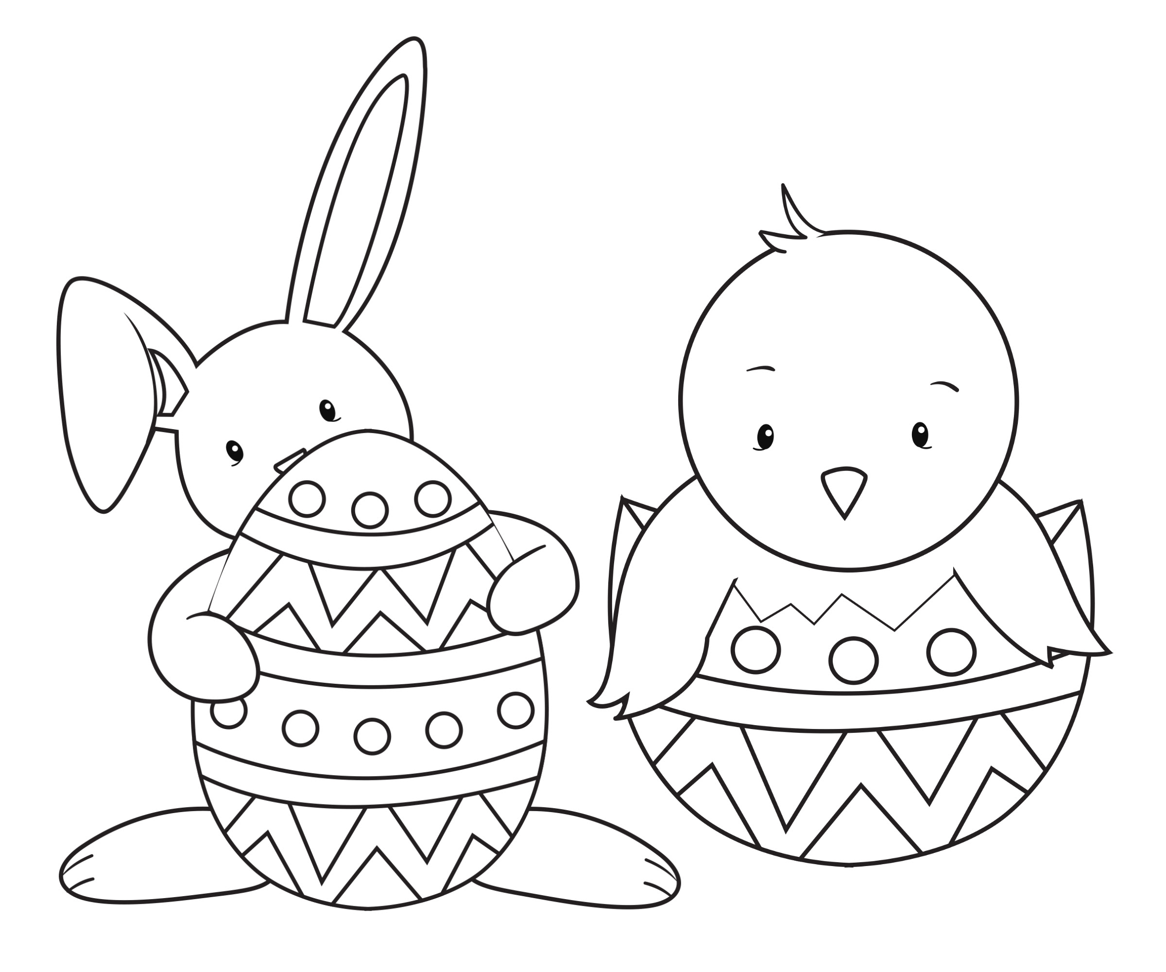 Easter Coloring Pages - Crazy Little Projects