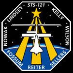 The mission logo for STS-121.