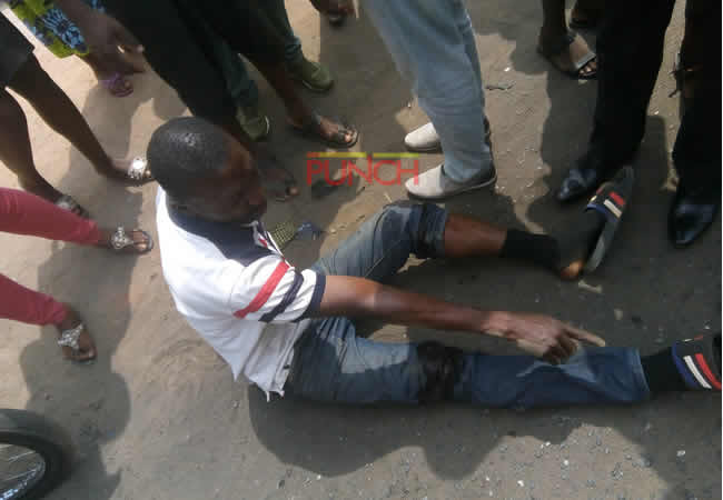 Image result for Robbers shoot man, snatch N1.7m in front of bank
