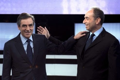 François Fillon et Jean-François Copé, sur le plateau de France 2, le 25 octobre.