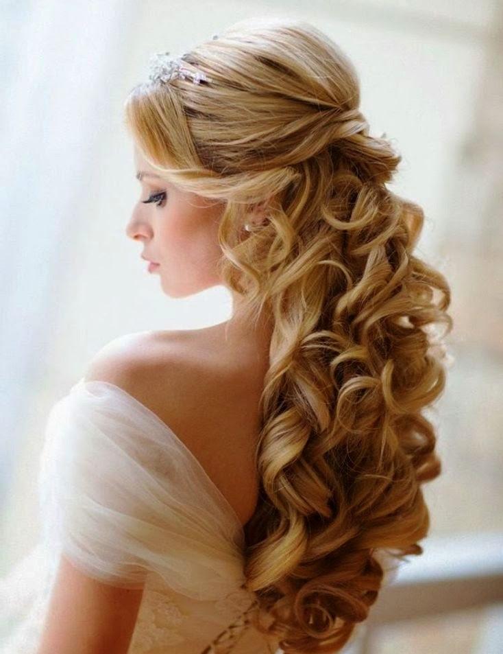 Long Hair Elegant Half Up Half Down Hairstyles