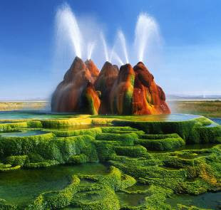 #2 fly geyser, nevada, usa