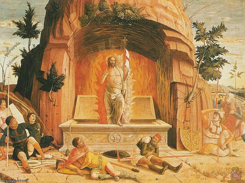 resurrección (1460), 1460 de Andrea Mantegna (1431-1506, Italy)