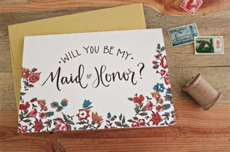 Stationery A ? Z: Bridesmaid and Maid of Honor Cards