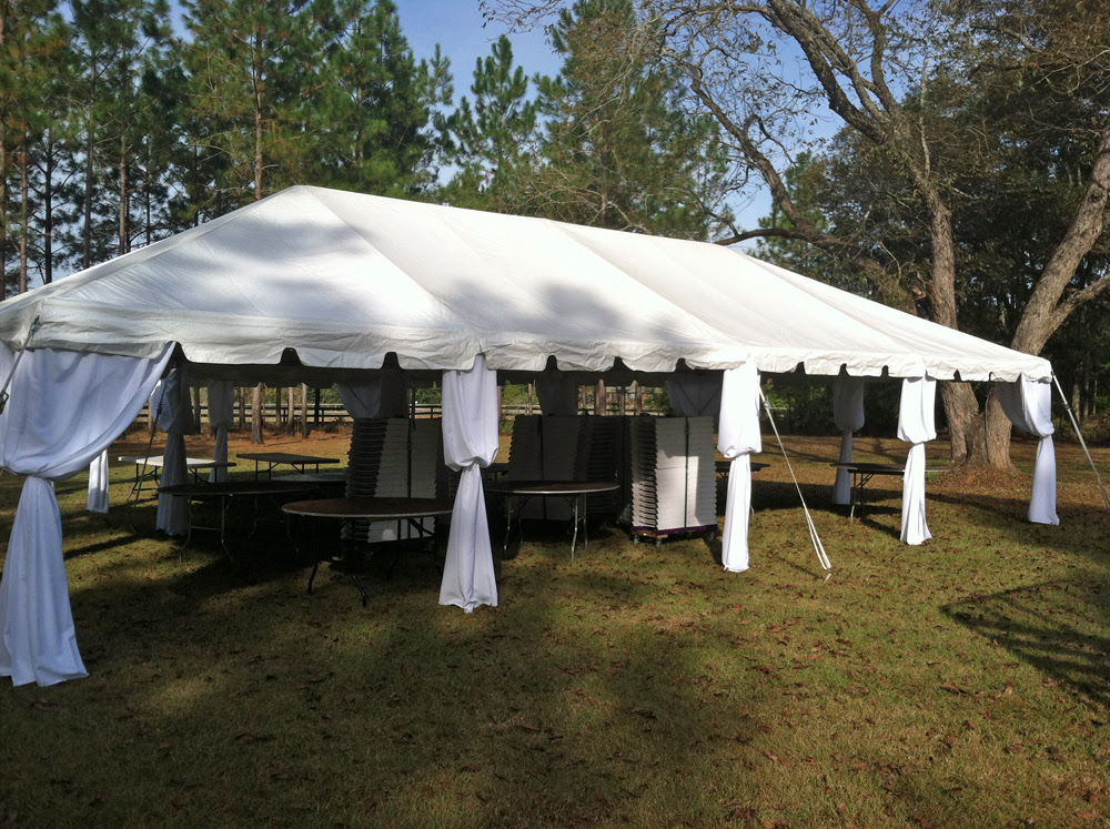 20 X 40 Ft Wedding Frame Tent With White Pole Covers Ring Party