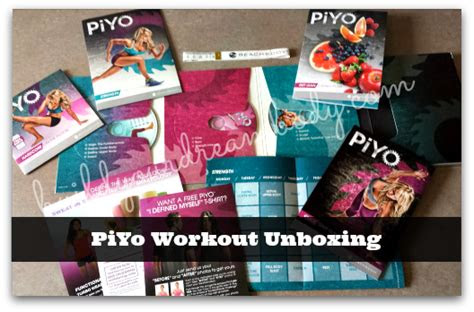 piyo workout deluxe package unboxing