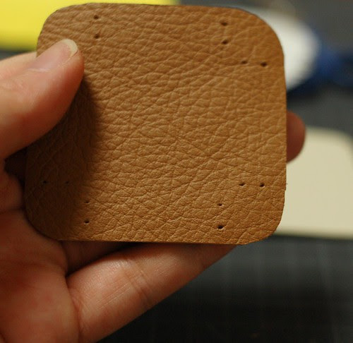 How to make a leather bottom pincushion 4