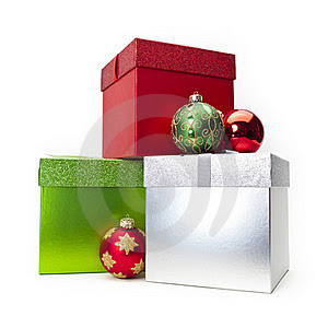 Christmas Gift Box & Ornaments