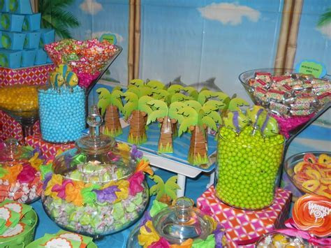 luau buffet   Candy Kisses Chicago Candy Buffet   how to