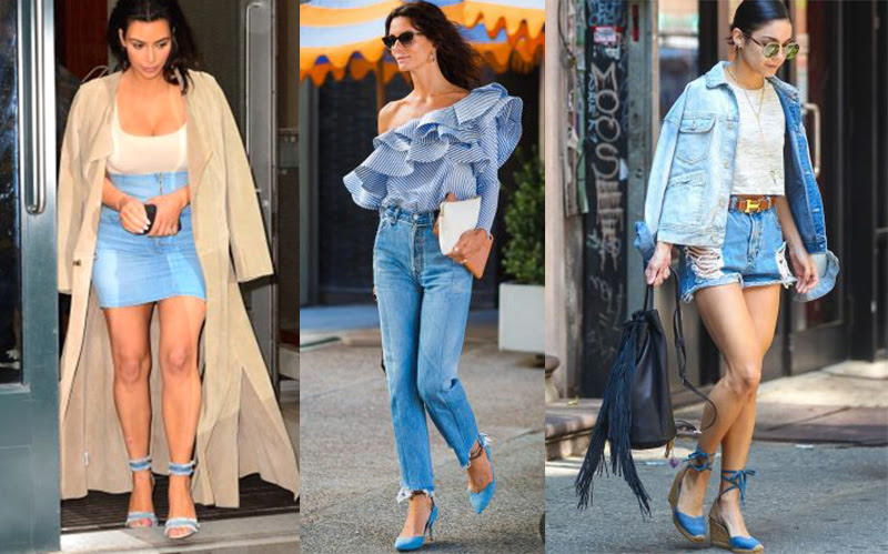 Resultado de imagem para tendencia verão 2018 sapatos jeans