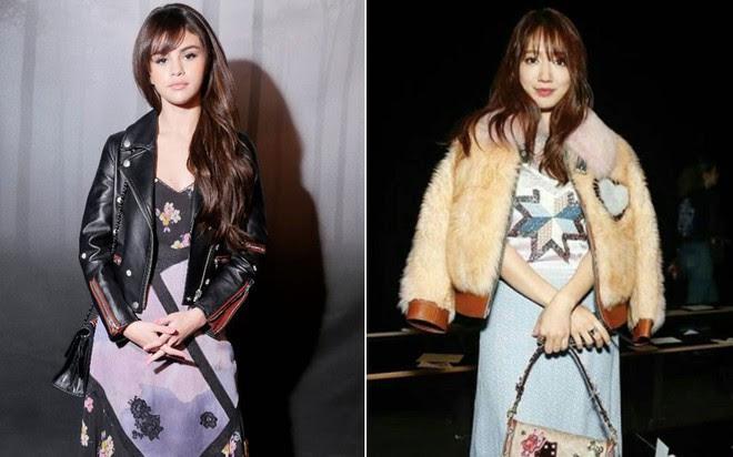 Cùng chễm chệ ghế đầu tại show thời trang, Selena Gomez và Park Shin Hye - nàng nào nổi bật hơn? - Ảnh 10.