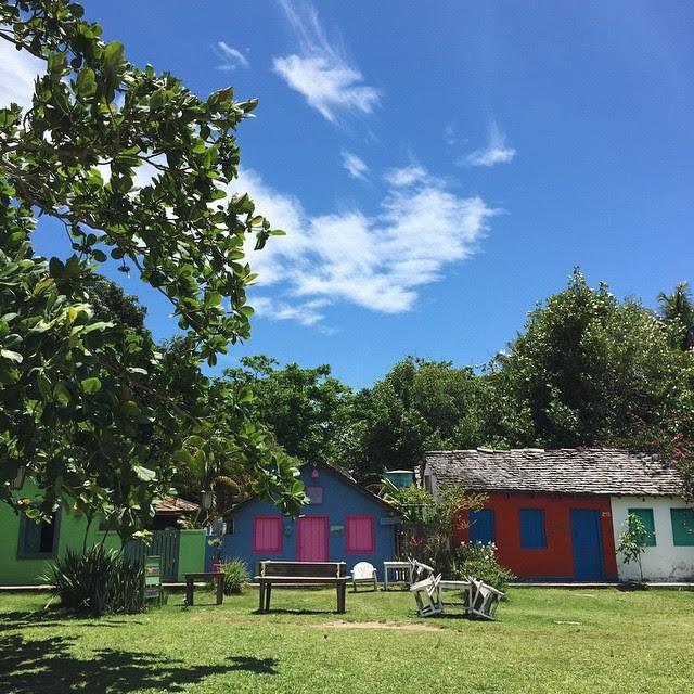 Solange postou foto de Trancoso, na Bahia (Foto: Reprodução/Instagram)