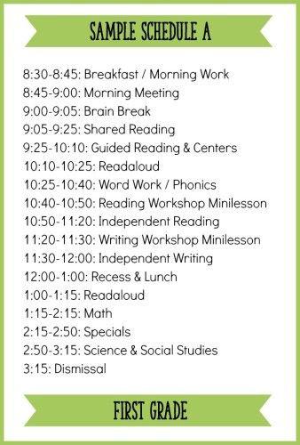 1000+ ideas about First Grade Schedule on Pinterest | First grade ...